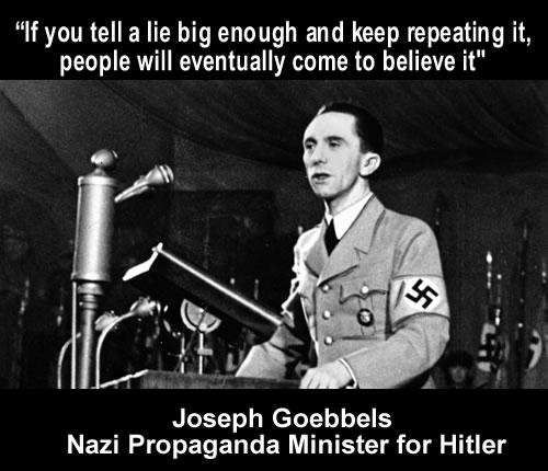 joseph goebbels - tell a lie
